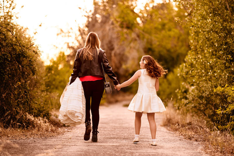 reportajes de comunión madre e hija