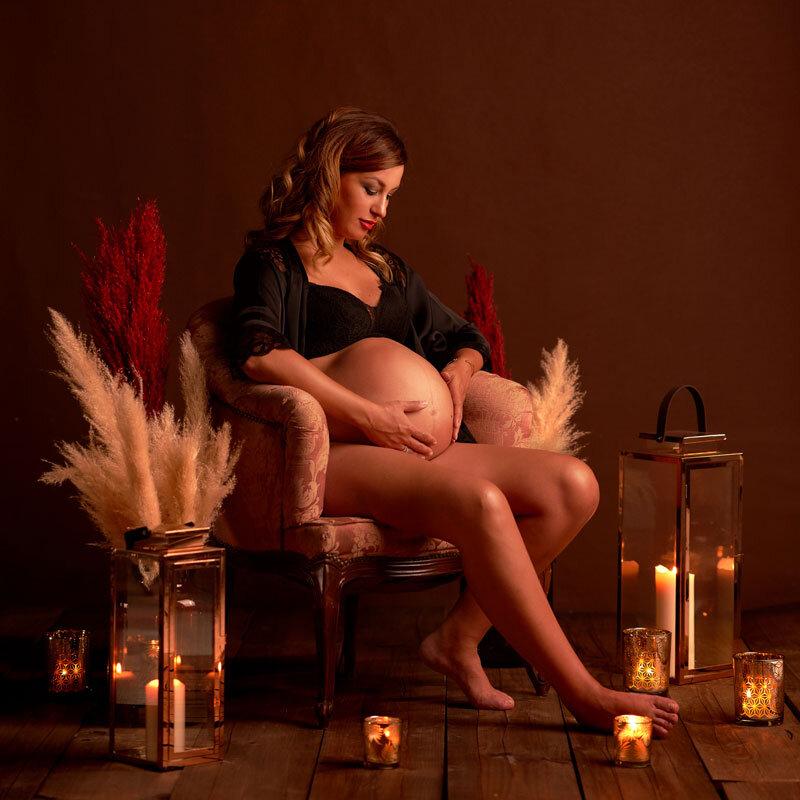 foto de embarazada en villares de la reina