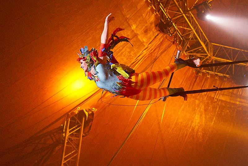 fotografía del espectáculo del circo alegría en salamanca